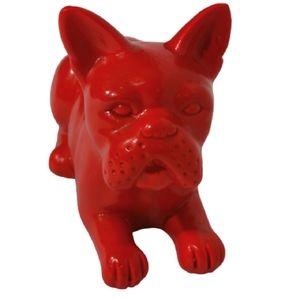 Ceramic Bulldog Red